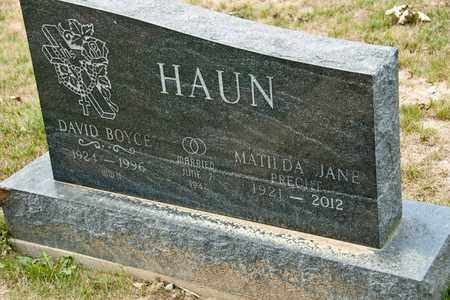 HAUN, MATILDA JANE - Richland County, Ohio | MATILDA JANE HAUN - Ohio Gravestone Photos