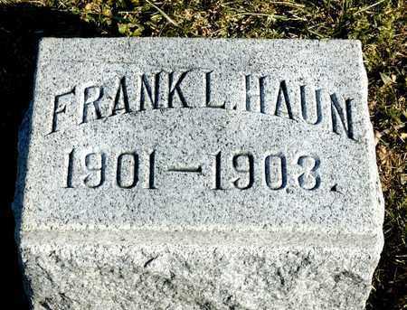 HAUN, FRANK L - Richland County, Ohio | FRANK L HAUN - Ohio Gravestone Photos