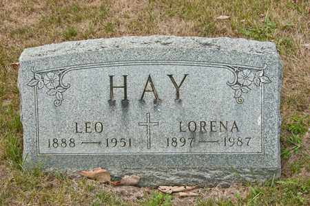 HAY, LORENA - Richland County, Ohio | LORENA HAY - Ohio Gravestone Photos