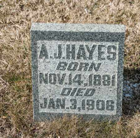 HAYES, A J - Richland County, Ohio   A J HAYES - Ohio Gravestone Photos