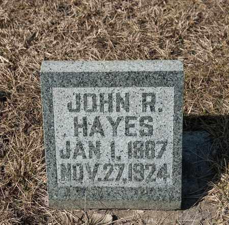 HAYES, JOHN R - Richland County, Ohio | JOHN R HAYES - Ohio Gravestone Photos