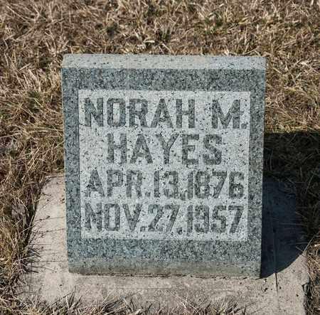 HAYES, NORAH M - Richland County, Ohio   NORAH M HAYES - Ohio Gravestone Photos