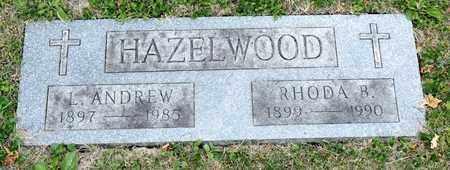 HAZELWOOD, L ANDREW - Richland County, Ohio | L ANDREW HAZELWOOD - Ohio Gravestone Photos