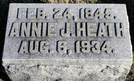 HEATH, ANNIE J - Richland County, Ohio | ANNIE J HEATH - Ohio Gravestone Photos