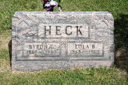 HECK, BYRON G - Richland County, Ohio | BYRON G HECK - Ohio Gravestone Photos