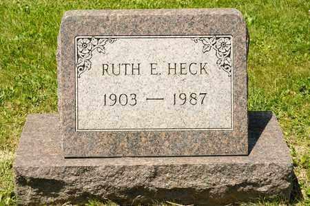 HECK, RUTH E - Richland County, Ohio   RUTH E HECK - Ohio Gravestone Photos
