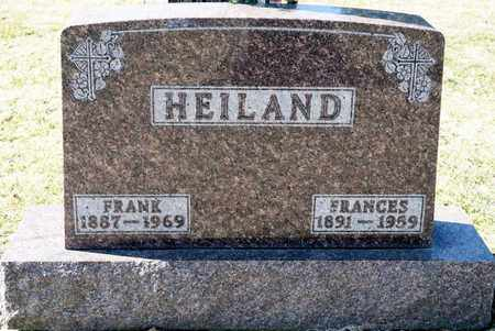 HEILAND, FRANCES - Richland County, Ohio | FRANCES HEILAND - Ohio Gravestone Photos