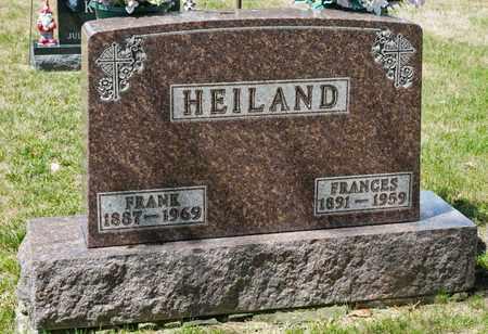 HEILAND, FRANCES - Richland County, Ohio   FRANCES HEILAND - Ohio Gravestone Photos