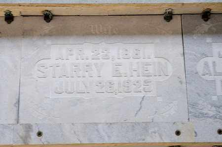 HEIN, STARRY E - Richland County, Ohio | STARRY E HEIN - Ohio Gravestone Photos