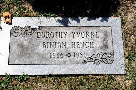 HENCH, DOROTHY YVONNE - Richland County, Ohio | DOROTHY YVONNE HENCH - Ohio Gravestone Photos