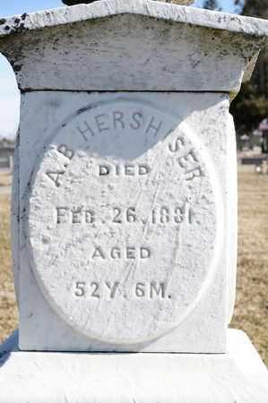 HERSHISER, A B - Richland County, Ohio | A B HERSHISER - Ohio Gravestone Photos
