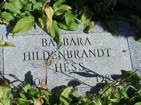 HESS, BARBARA HILDENBRANDT - Richland County, Ohio   BARBARA HILDENBRANDT HESS - Ohio Gravestone Photos