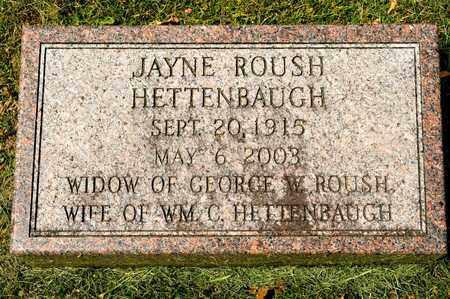 HETTENBAUGH, JAYNE - Richland County, Ohio | JAYNE HETTENBAUGH - Ohio Gravestone Photos