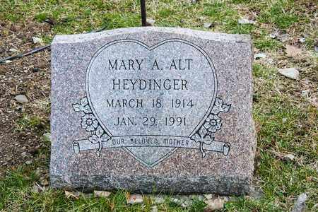 ALT HEYDINGER, MARY A - Richland County, Ohio   MARY A ALT HEYDINGER - Ohio Gravestone Photos