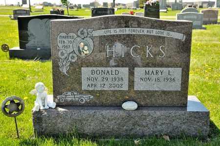 HICKS, DONALD - Richland County, Ohio | DONALD HICKS - Ohio Gravestone Photos