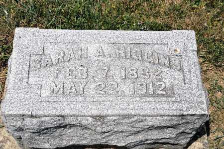 HIGGINS, SARAH A - Richland County, Ohio | SARAH A HIGGINS - Ohio Gravestone Photos