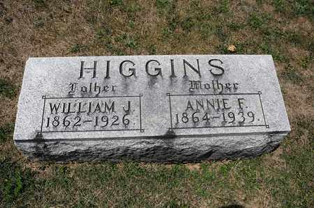HIGGINS, ANNIE F - Richland County, Ohio | ANNIE F HIGGINS - Ohio Gravestone Photos