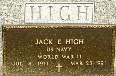 HIGH, JACK E - Richland County, Ohio | JACK E HIGH - Ohio Gravestone Photos