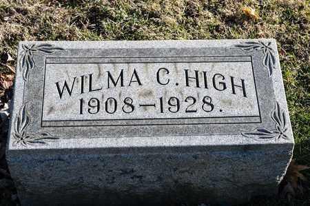 HIGH, WILMA C - Richland County, Ohio | WILMA C HIGH - Ohio Gravestone Photos