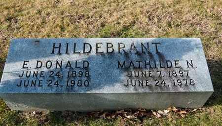 HILDEBRANT, E DONALD - Richland County, Ohio   E DONALD HILDEBRANT - Ohio Gravestone Photos
