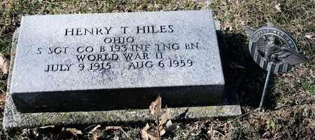 HILES, HENRY T - Richland County, Ohio | HENRY T HILES - Ohio Gravestone Photos