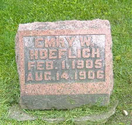 HOEFLICH, EMRY W. - Richland County, Ohio | EMRY W. HOEFLICH - Ohio Gravestone Photos