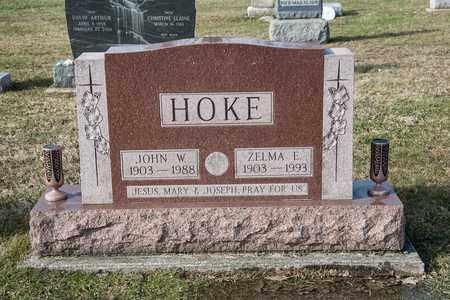 HOKE, ZELMA E - Richland County, Ohio | ZELMA E HOKE - Ohio Gravestone Photos