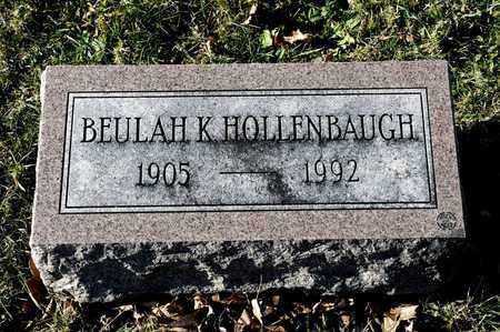 HOLLENBAUGH, BEULAH K - Richland County, Ohio   BEULAH K HOLLENBAUGH - Ohio Gravestone Photos