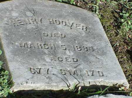 HOOVER, HENRY - Richland County, Ohio   HENRY HOOVER - Ohio Gravestone Photos