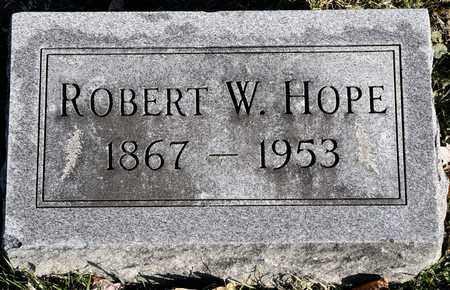 HOPE, ROBERT W - Richland County, Ohio | ROBERT W HOPE - Ohio Gravestone Photos