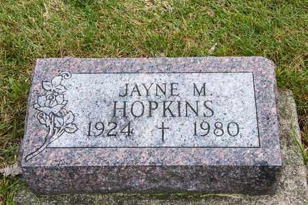 HOPKINS, JAYNE M - Richland County, Ohio   JAYNE M HOPKINS - Ohio Gravestone Photos