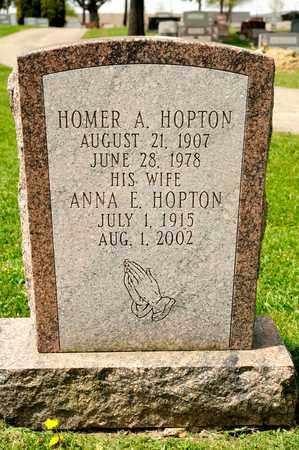 HOPTON, ANNA E - Richland County, Ohio | ANNA E HOPTON - Ohio Gravestone Photos