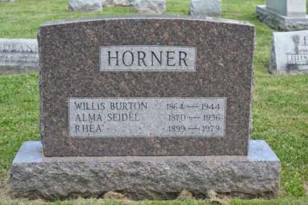 HORNER, RHEA - Richland County, Ohio | RHEA HORNER - Ohio Gravestone Photos