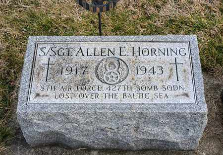 HORNING, ALLEN E - Richland County, Ohio   ALLEN E HORNING - Ohio Gravestone Photos