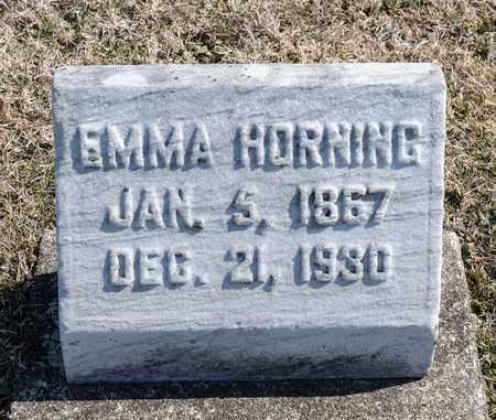 HORNING, EMMA - Richland County, Ohio   EMMA HORNING - Ohio Gravestone Photos