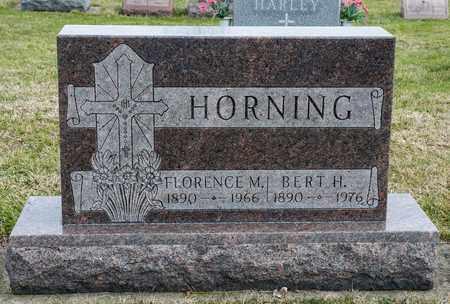 HORNING, FLORENCE M - Richland County, Ohio | FLORENCE M HORNING - Ohio Gravestone Photos