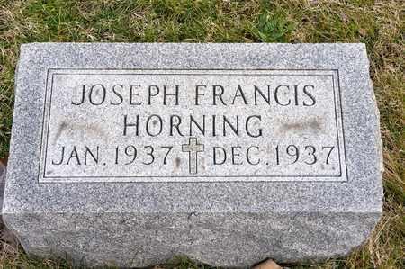HORNING, JOSEPH FRANCIS - Richland County, Ohio | JOSEPH FRANCIS HORNING - Ohio Gravestone Photos