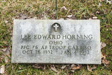 HORNING, LEE EDWARD - Richland County, Ohio | LEE EDWARD HORNING - Ohio Gravestone Photos