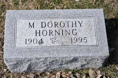 HORNING, M DOROTHY - Richland County, Ohio | M DOROTHY HORNING - Ohio Gravestone Photos