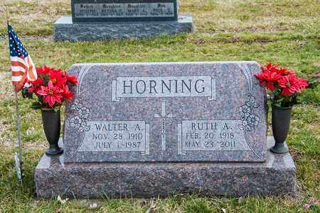 HORNING, WALTER A - Richland County, Ohio | WALTER A HORNING - Ohio Gravestone Photos