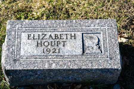 HOUPT, ELIZABETH - Richland County, Ohio   ELIZABETH HOUPT - Ohio Gravestone Photos