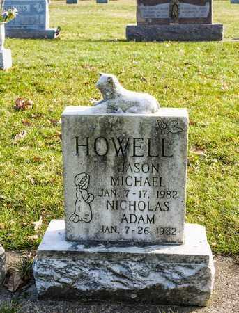 HOWELL, NICHOLAS ADAM - Richland County, Ohio | NICHOLAS ADAM HOWELL - Ohio Gravestone Photos