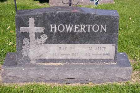 HOWERTON, RAY P - Richland County, Ohio | RAY P HOWERTON - Ohio Gravestone Photos