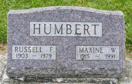 HUMBERT, MAXINE W - Richland County, Ohio | MAXINE W HUMBERT - Ohio Gravestone Photos
