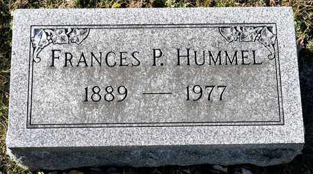HUMMEL, FRANCES P - Richland County, Ohio   FRANCES P HUMMEL - Ohio Gravestone Photos
