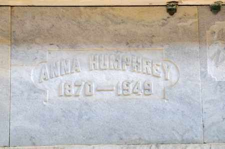 HUMPHREY, ANNA - Richland County, Ohio   ANNA HUMPHREY - Ohio Gravestone Photos