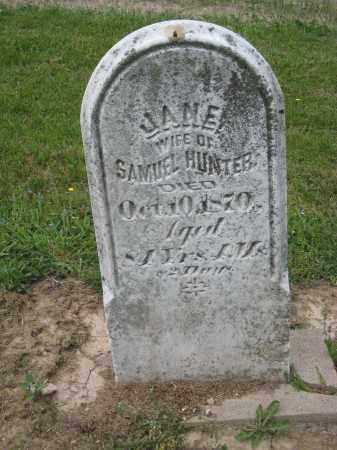 HUNTER, JANE - Richland County, Ohio | JANE HUNTER - Ohio Gravestone Photos