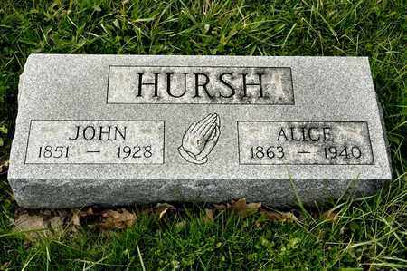 HURSH, JOHN - Richland County, Ohio | JOHN HURSH - Ohio Gravestone Photos