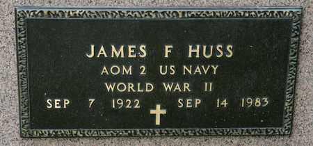 HUSS, JAMES F - Richland County, Ohio | JAMES F HUSS - Ohio Gravestone Photos