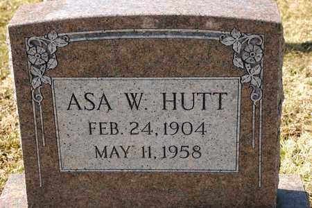 HUTT, ASA W - Richland County, Ohio   ASA W HUTT - Ohio Gravestone Photos